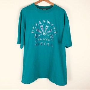 Vintage Hollywood casino aurora t-shirt mens 0459